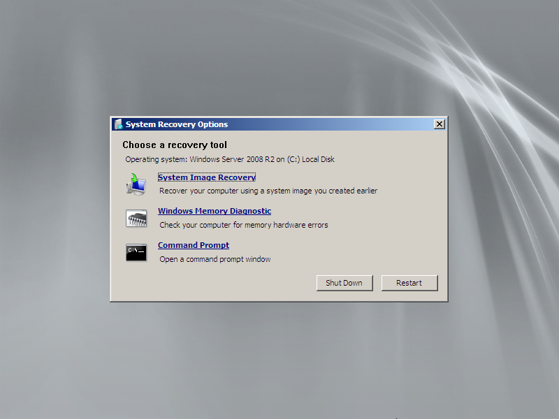 run system recovery from command prompt